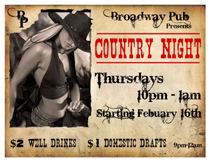 Country Night Broadway Pub